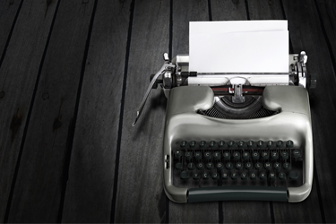 Antique Typewriter 375x250px